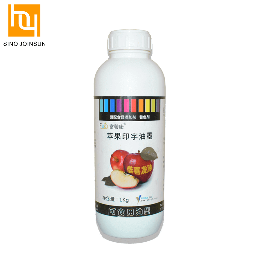 Fruits Edible Printing Ink Printed on Fruits Surface