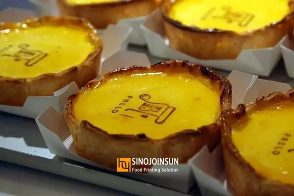 print egg tart (Sinojoinsun)edible ink, Desktop food printer 2