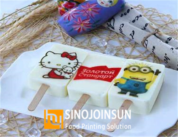 sinojoinsun online food inkjet printer print ice cream 4