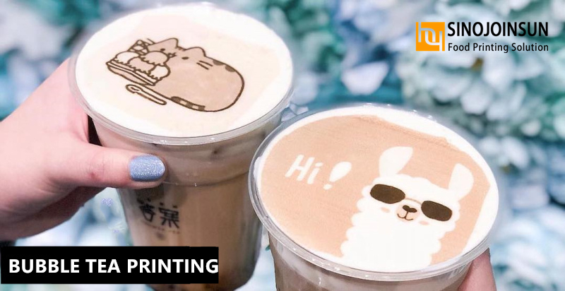 bubble tea printing with Sinojoinsun edible ink