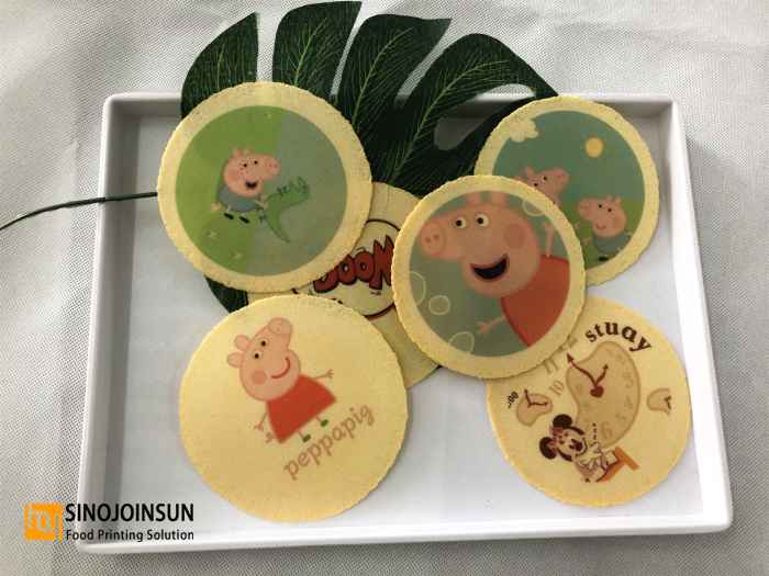 Sinojoinsun™ Desktop Food Printer print cookie. Cartoon themed cookie