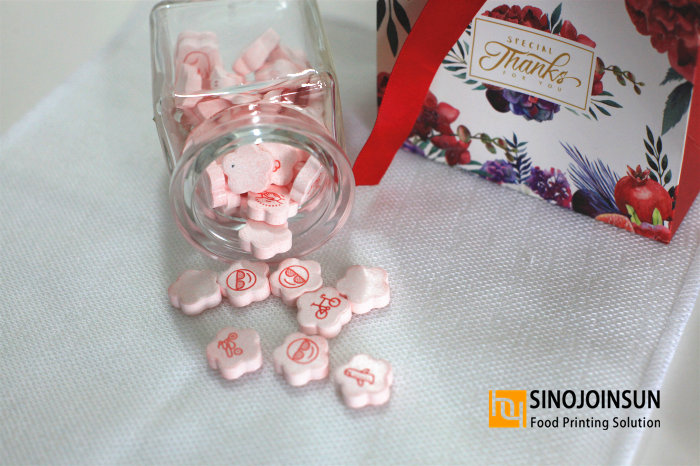 Thanksgiving candies; Customized Wedding candies printed with Sinojoinsun™ edible ink and candy printer