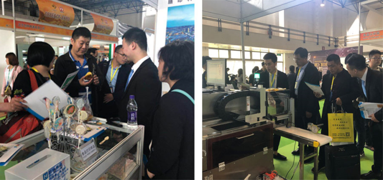 Sinojoinsun food printers is favored at CBBE 2019; to print cookie, cake, ice cream, candy, etc.
