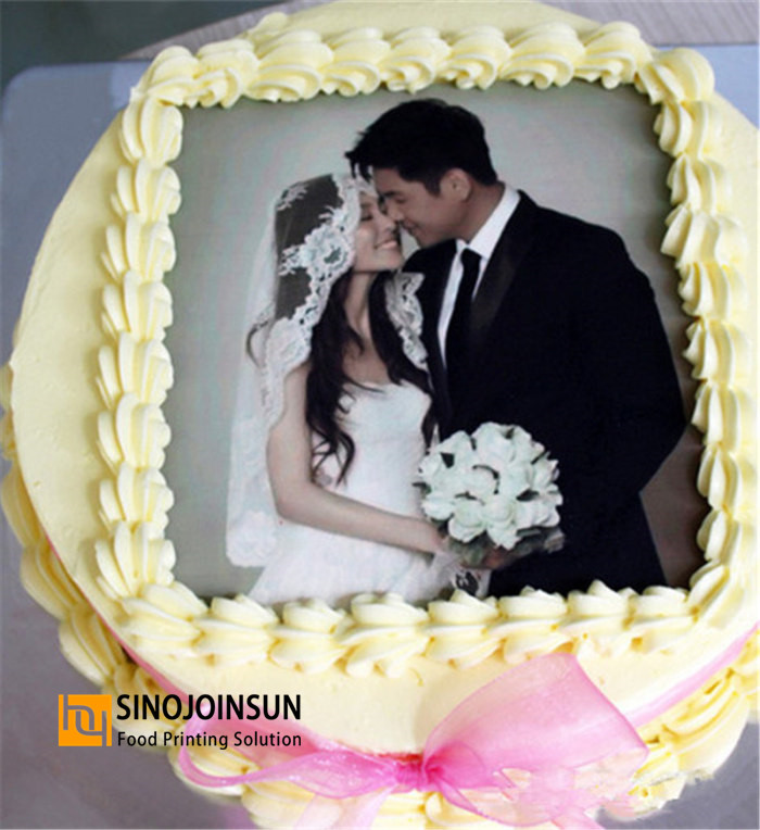 Photo Printed wedding cake with Sinojoinsun™ icing sheet, edible paper, edible ink_副本_副本