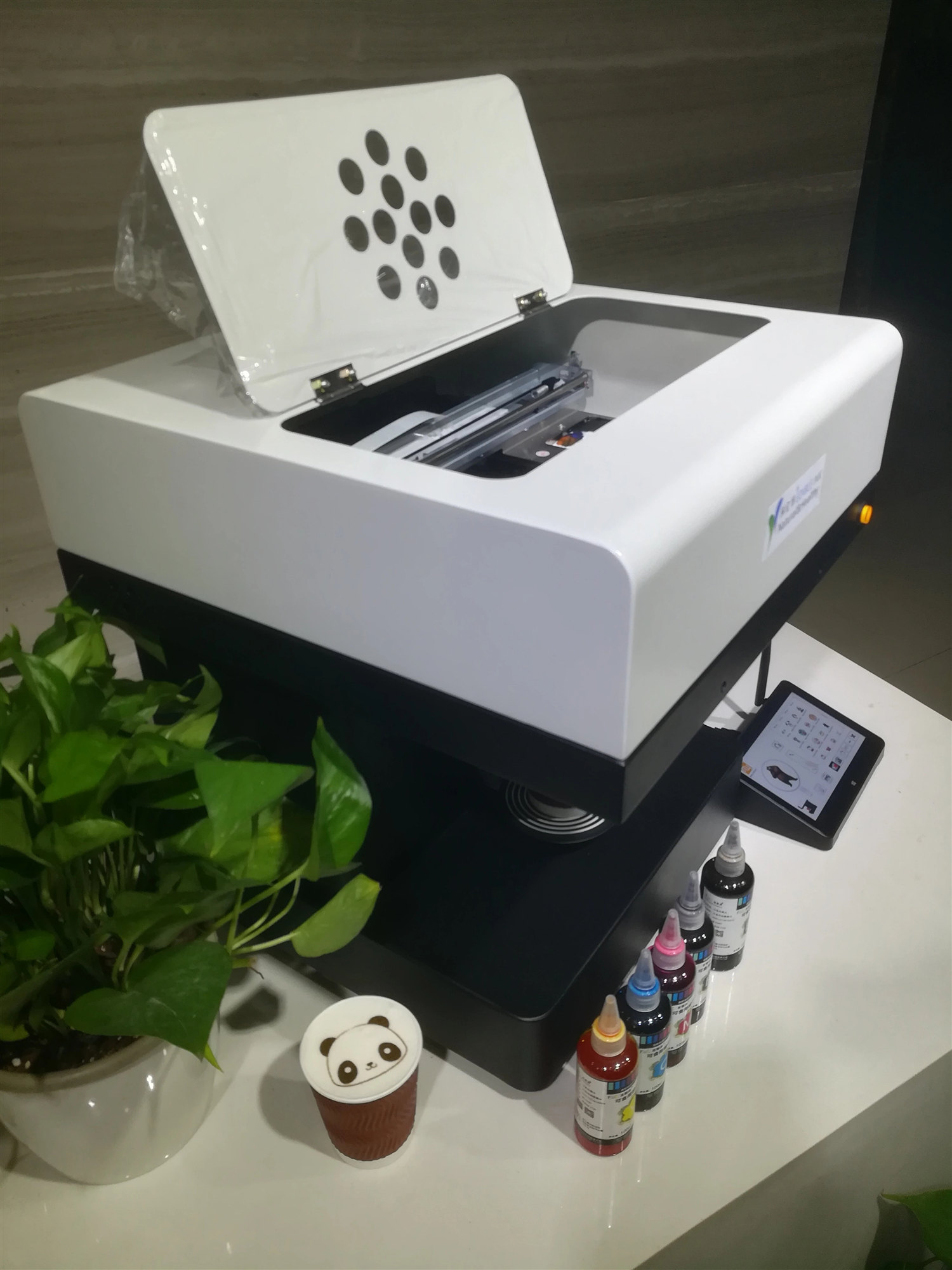 3D Digital Portable Coffee Printer HY3422 with Full Color Edible Ink