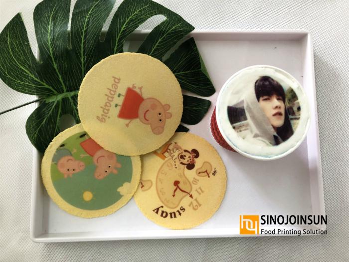 Sinojoinsun™ desktop food printer print cookie & coffee