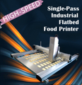 Single-Pass Industrial Flatbed Food Printer | Large Format and High-speed